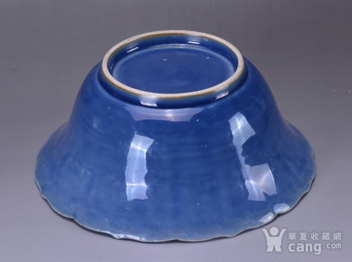 康熙 蓝釉大碗图9