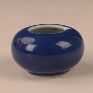 欧洲回季蓝文房小水罐
