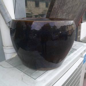 民国宜均釉大画缸