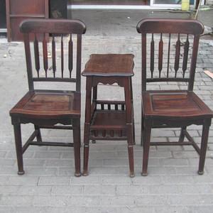 一套老红木椅子原配茶几
