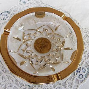 世界大牌:范思哲水晶镀金烟灰缸