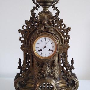 十九世纪法国造巨大铜胎座钟  欧洲直邮