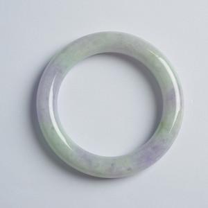 春带彩翡翠圆条手镯 55mm  11HZ05