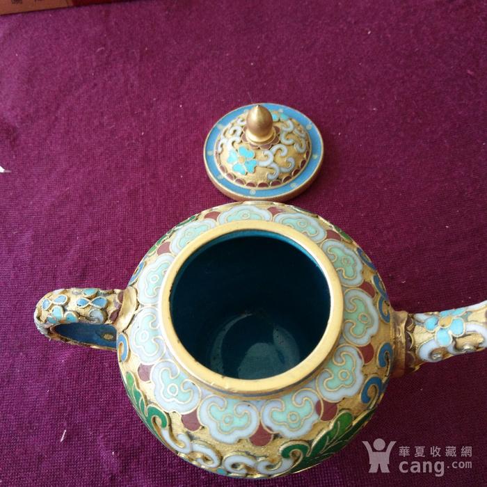创汇期 景泰蓝 水滴茶壶图6