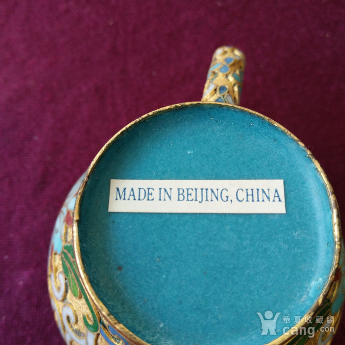 创汇期 景泰蓝 水滴茶壶图9