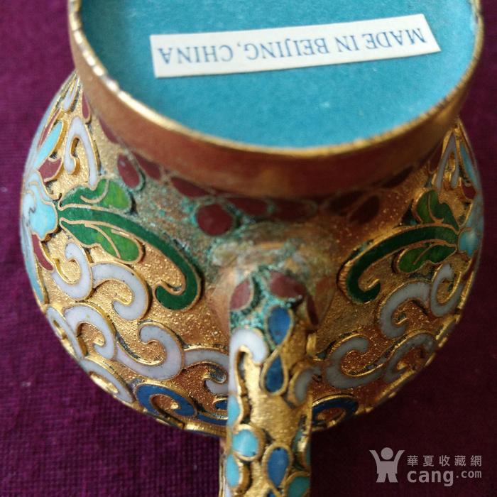 创汇期 景泰蓝 水滴茶壶图8