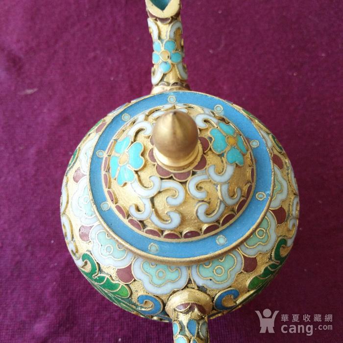 创汇期 景泰蓝 水滴茶壶图4