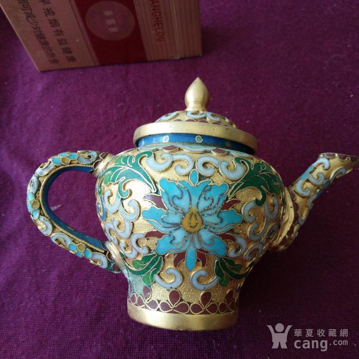 创汇期 景泰蓝 水滴茶壶图3