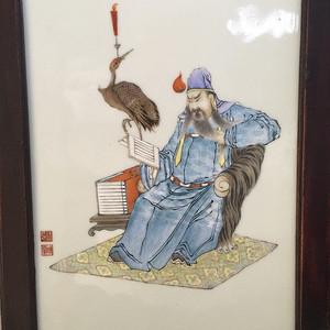 民国 瓷板画