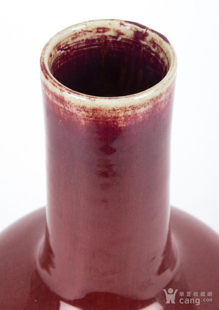 欧美回流 清 钧红釉长颈瓶 已鉴定图9