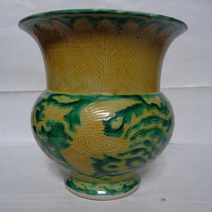 黄绿釉渣斗