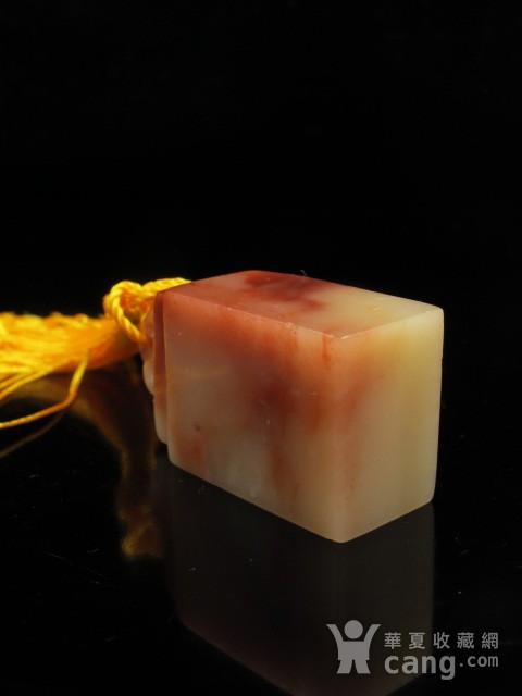 精品 寿山结晶老性红白芙蓉冻石如意钮图8