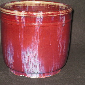 清中期窑变釉筒式大香炉