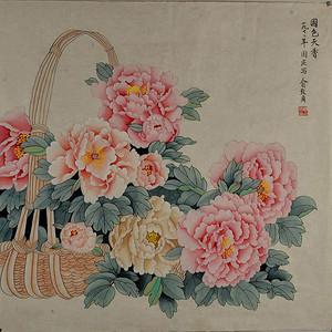 联盟 俞致贞款牡丹图:国色天香