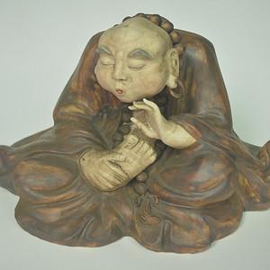 老人物瓷塑