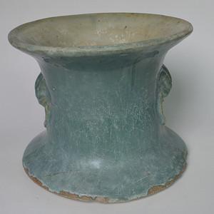 民国石湾窑绿釉痰罐