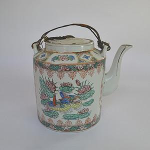 文革广彩茶壶