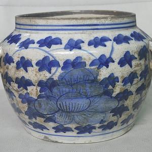 低温瓷青花罐
