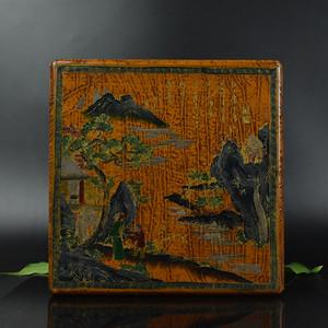 联盟 鸿福斋漆器手绘人物图首饰盒