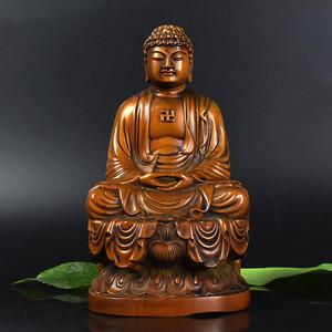 联盟 鸿福斋黄杨木精品浮雕大日如来雕像