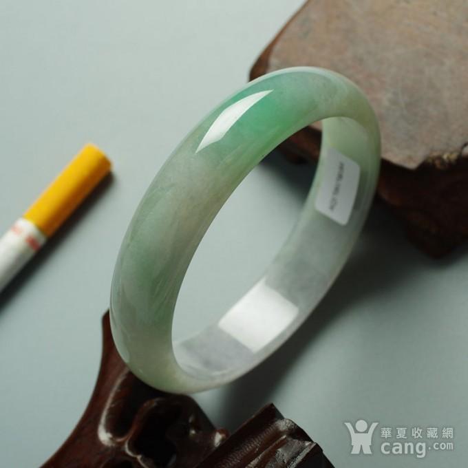 冰绿翡翠平安手镯 58mm  10JH06图1