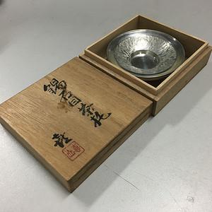 联盟 工艺精湛锡器茶托一对