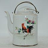 景德镇粉彩老茶壶