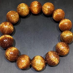 天然铜发晶手链