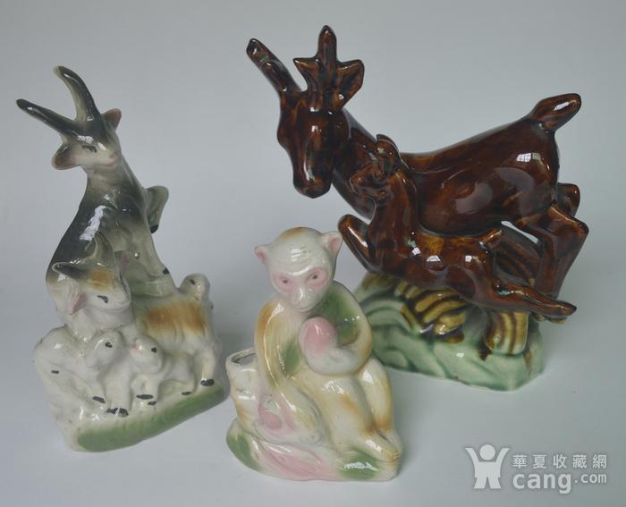 三件动物瓷塑图12