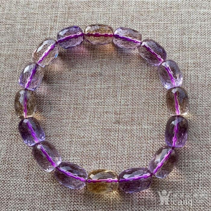 天然刻面紫黄晶手链图3
