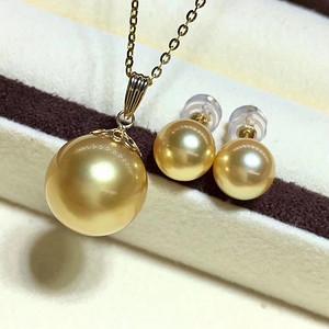 天然海水金珍珠套装