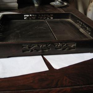 明清瓷杂0元拍 民国老红木托盘