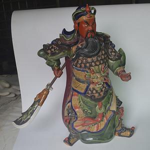 纯手工石湾窑关帝瓷像
