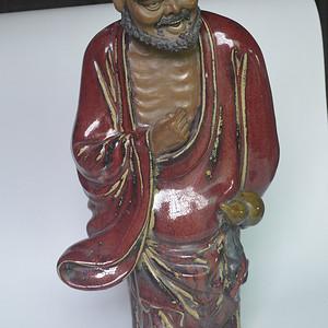 石湾窑济公瓷塑
