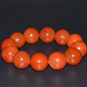 柿子红南红玛瑙2.0大珠手串