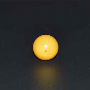 天然鸡油黄蜜蜡精圆单珠