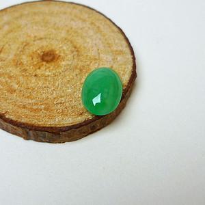 冰种满绿蛋型戒指