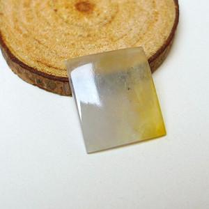 冰种带黄翡方形镶面