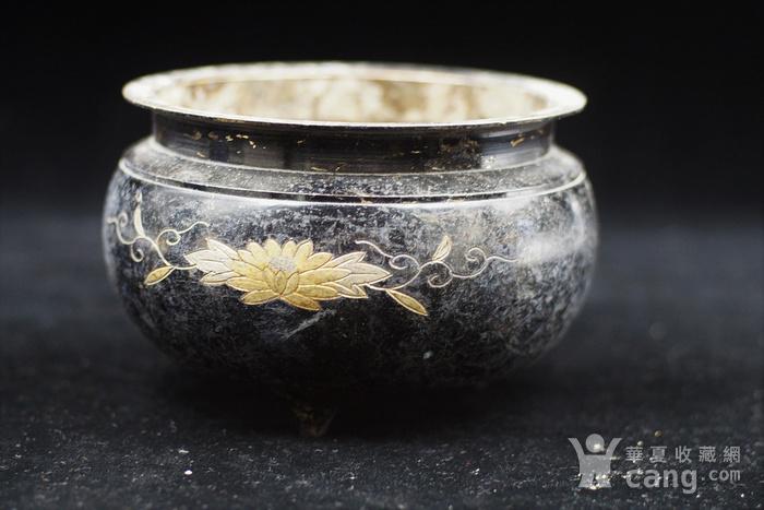200年的鎏金铜香炉图4