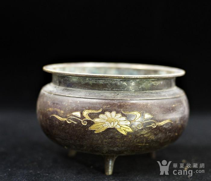 200年的鎏金铜香炉图1