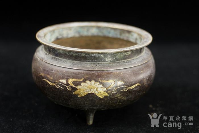 200年的鎏金铜香炉图2