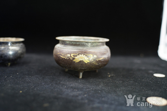 200年的鎏金铜香炉图3