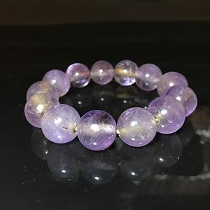 精品古珠 清代老紫水晶珠一串