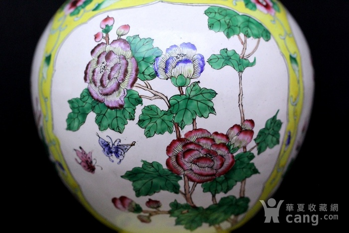 2老铜胎画珐琅开光花卉纹观音瓶图4