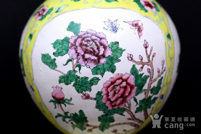 2老铜胎画珐琅开光花卉纹观音瓶图6