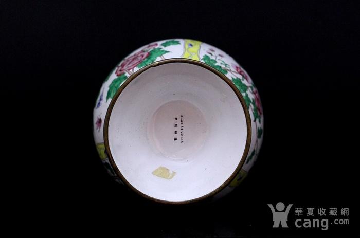 2老铜胎画珐琅开光花卉纹观音瓶图8