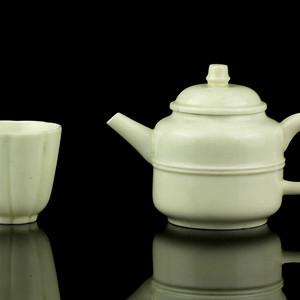 14清德化窑白釉茶具一套