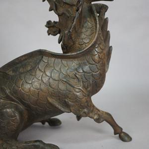 典藏  清代麒麟铜熏香炉