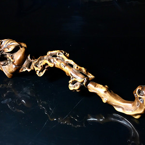 清代精品收藏级木雕 黄杨木雕如意