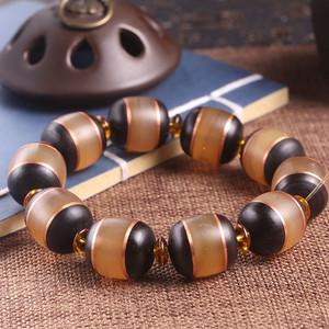 西藏LYJ镶嵌黑牦牛手串